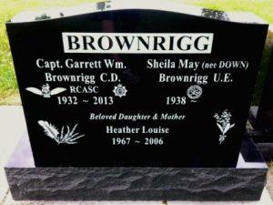 Upright Double - Black Granite | Haywards Funerals
